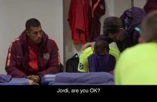 It was a night to forget for Jordi Alba..