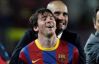 Guardiola and Messi were unstoppable together at Barcelona.