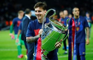 Lionel Messi won the treble at Barcelona in 2014/15