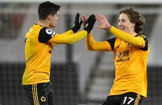 Wolves attackers Pedro Neto and Fabio Silva