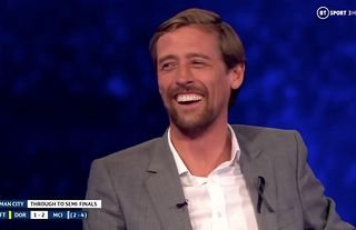 Peter Crouch forgetting he scored Champions League goals was TV gold