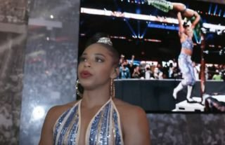 Belair was emotional backstage on WWE SmackDown
