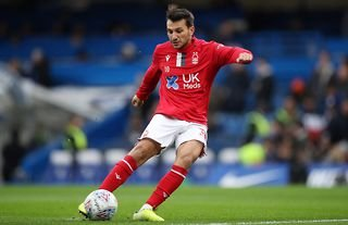 Joao Carvalho playing for Nottingham Forest before his loan move to Almeria.jpg