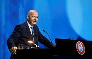 Giani Infantino has reacted strongly to the idea of a European Super League