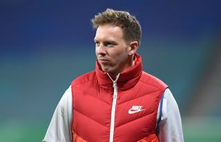 Leipzig manager and Tottenham target Julian Nagelsmann ahead of a game
