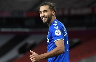 Dominic Calvert-Lewin in action for Carlo Ancelotti's Everton
