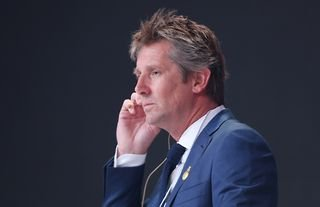 Former Manchester United goalkeeper Edwin van der Sar at an awards ceremony
