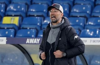 Liverpool manager Jurgen Klopp urging his team on