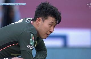 Carabao Cup Final Heung Min Son Breaks Down In Tears After Man City 1 0 Tottenham Givemesport