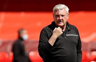 Newcastle manager Steve Bruce at Anfield during the side's recent match against Liverpool