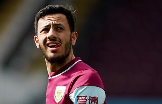 Burnley winger and Aston Villa target Dwight McNeil in action