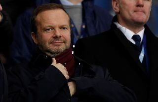 Manchester United director Ed Woodward in the stands at Old Trafford