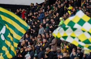 Norwich City fans at Carrow Road
