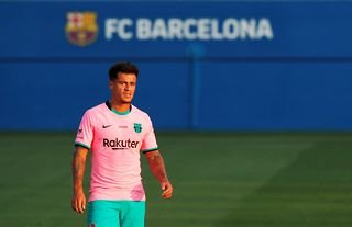 Barcelona midfielder and Everton target Philippe Coutinho in action