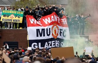 Man Utd fans protested outside Old Trafford last Sunday