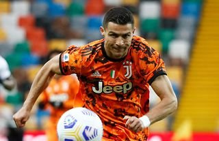 Cristiano Ronaldo playing for Juventus vs Udinese in Serie A