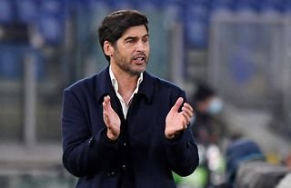 Former Roma manager watches his team against Ajax in the Europa League