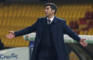 Roma manager and Crystal Palace target Paulo Fonseca on the touchline