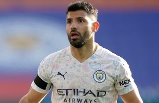 Everton-linked forward Sergio Aguero in action for Manchester City