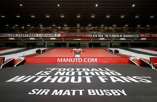 General view of Manchester United's stadium Old Trafford