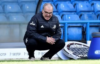 Marcelo Bielsa on the touchline for Leeds who have spent big since arriving in the Premier League