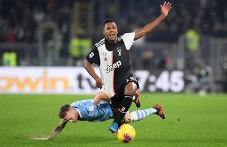 Manchester United target Alex Sandro in action for Juventus