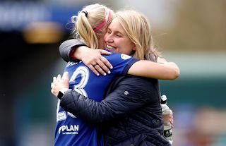 Pernille Harder and Emma Hayes