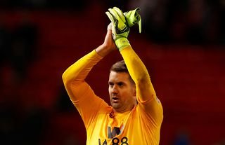 Aston Villa's Tom Heaton in action against Manchester United who are reportedly keen on signing him