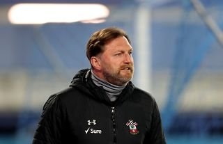 Southampton manager Ralph Hasenhuttl looking into the stands