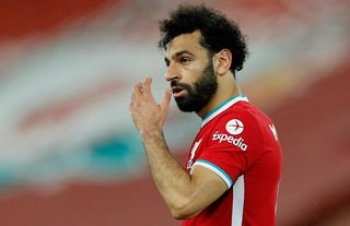 Liverpool star Mo Salah in action against Southampton at Anfield in the Premier League