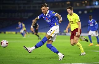 Ben White in action for Brighton amid interest from Manchester United