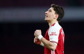 Hector Bellerin in action for Arsenal amid speculation over his future