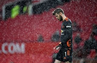 David De Gea in action for Man United amid speculation over his future