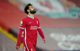 Mohamed Salah looks frustrated playing for Liverpool against Southampton in the Premier League