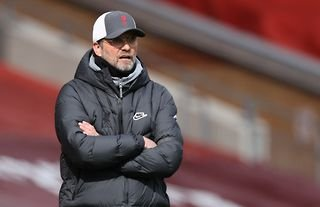 Liverpool manager Jurgen Klopp with his arms folded