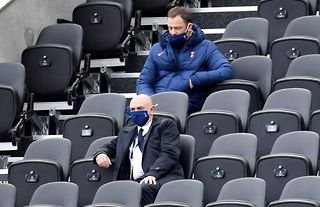 Tottenham chairman Daniel Levy in the stands