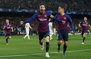 Lionel Messi destroyed Man United in the 2018/19 Champions League