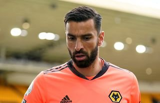 Wolves goalkeeper and Roma target Rui Patricio in action at Molineux