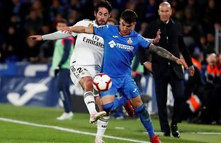 Reported Man United target Arambarri in action for Getafe
