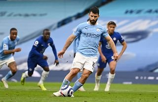 Manchester City star Sergio Aguero misses a penalty against Chelsea in the Premier League
