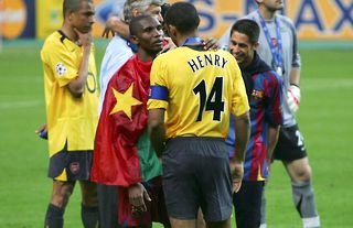 Thierry Henry after Barcelona 2-1 Arsenal in 2006