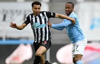 Jacob Murphy in action for Newcastle