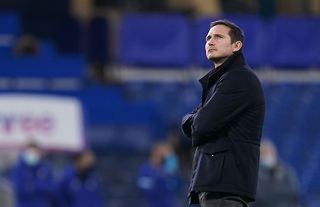 Crystal Palace target Frank Lampard looking up into the stands