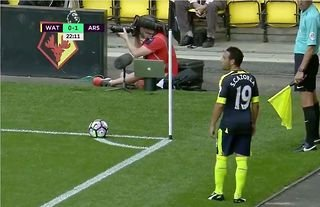 Cazorla's two-footed corner for Arsenal vs Watford