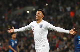 Liverpool star Alexander-Arnold playing for England