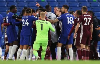 Chelsea could be deducted points for clashing with Leicester players