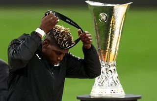 Man Utd's Pogba after losing the Europa League final to Villarreal.