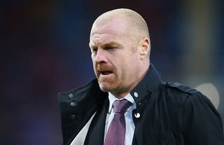 Burnley manager and Crystal Palace target Sean Dyche staring at the floor