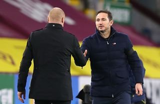 Crystal Palace targets Sean Dyche and Frank Lampard shaking hands