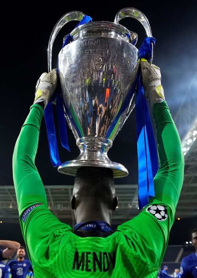 Edouard Mendy won the Champions League with Chelsea